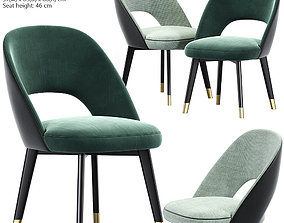 Baxter Colette Chair Dining Chair 3D model