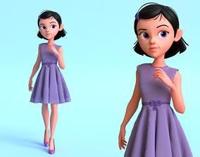 Kim Girl Character 3D model