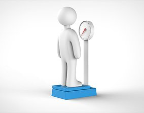 3D man and weight scale