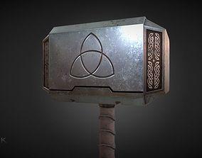 Mjolnir Thors Hammer 3D asset