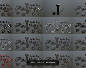 Bolts collection 3D model