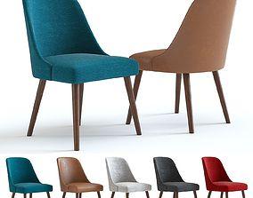 West Elm Mid-Century Chair Walnut legs 3D
