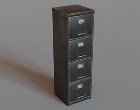 Filing Cabinet 3D model low-poly paperwork