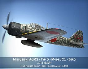 3D Mitsubishi A6M2 Zero - Hiyo Fighter Group