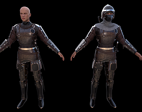 3D model animated TAB Medieval Knight - 1
