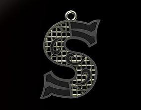 typographic Alphabet Pendant 3D print model
