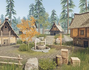 Medieval Houses and Props - Game Props 3D asset