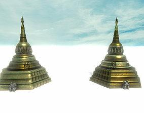 3D asset Asian Temple - Pagoda set