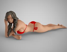 Beach Life Girl 5 3D print model