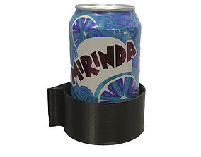 3D printable model Bottle Wall Mount Cup Holder
