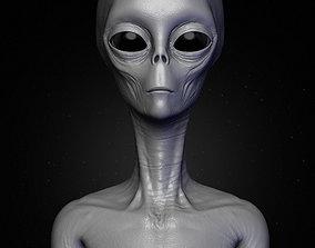 Realistic Alien 4 Sculpt 3D