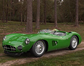 3D model Aston Martin Racing DBR1 Vintage car