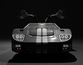 GT40 with Full Interior and Engine 3D model