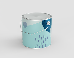 2500 ml - Paint Can 3D