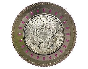 3D Digital Currency Coin - 600 BTC safe