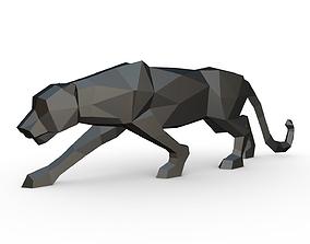 Black panther figure 3D print model