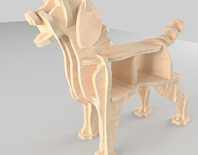 3D model CNC cutting templates for plywood labrador dog 1