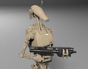 Star Wars Battle Droid Rigged 3D combat