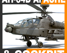 Boeing AH-64D Apache Longbow Attack Helicopter with 3D