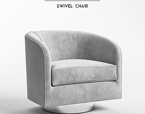 3D Milo Baughman - Swivel Chair model