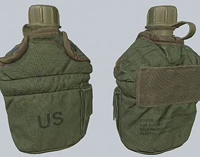 3D model low-poly Canteen US