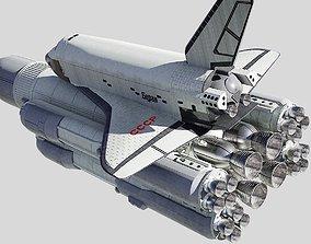 Buran space shuttle 3D model