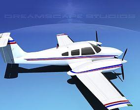 3D model Piper PA-44-180T Turbo Seminole V10