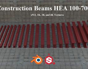 3D asset Construction Beams HEA 100-700 PBR