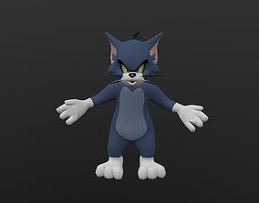 3D model animated TOMC-035 Tom Cat Yelling