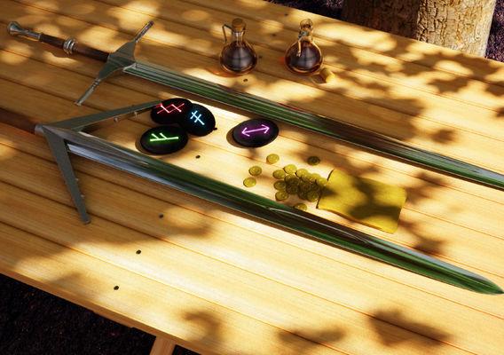 Witcher 3 swords
