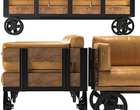 carriage Sofa Industrial Revolution 3D