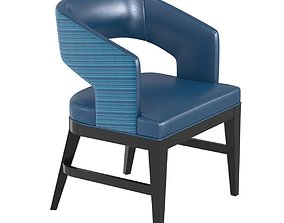 Charter furniture blue dining arm chair soft 3D