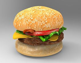 3D model VR / AR ready Burger