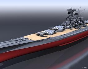 BATTLESHIP MUSASHI 3D model