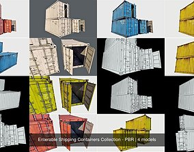 Enterable Shipping Containers Collection - PBR 3D model