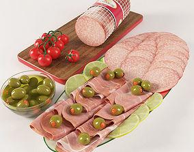 Assorted Sausages Set 3D
