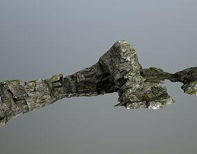 3D asset VR / AR ready mosy rocks