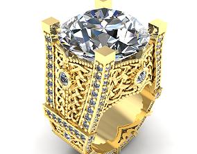 3D printable model Big beautiful male ring 154