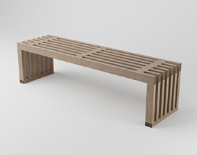 furnishing 3D model Wood bench