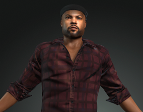 character design for actor ice cube 3D asset