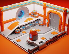 3D model Scifi space corridor