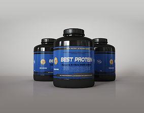 Protein Supplement Bottles 3D