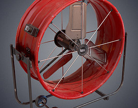 Industrial fan 3D asset