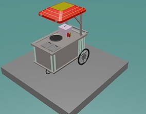 3D model Hot Dog Stand lowpoly