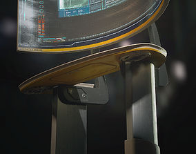 3D model Excalibur standing computer terminal