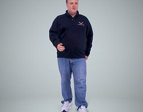 3D model Man Walking with Jumper CMan0221-HD2-O01P01-S