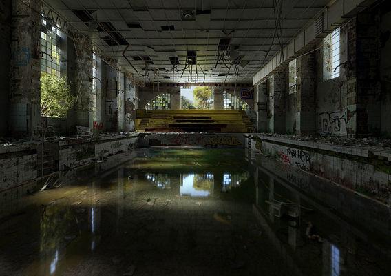 Swimming pool by Léandre Hounnaké
