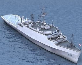 LPD4 Austin Assault Ship 3D asset