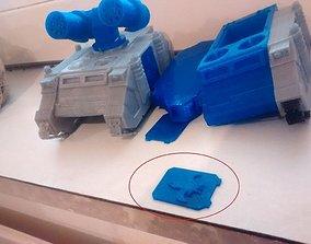 Tank door with Custom Emblem 3D print model
