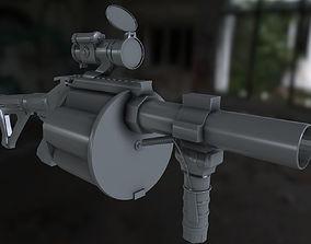 190 grenade launcher 3D asset